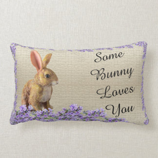 easter bunny rabbit valentine lavender cushion
