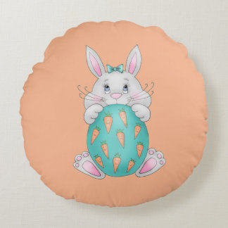 Easter Bunny Round Pillow