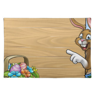 Easter Bunny Sign Background Placemat