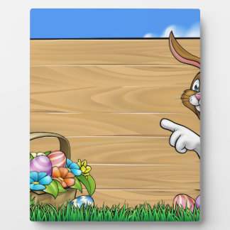 Easter Bunny Sign Background Plaque