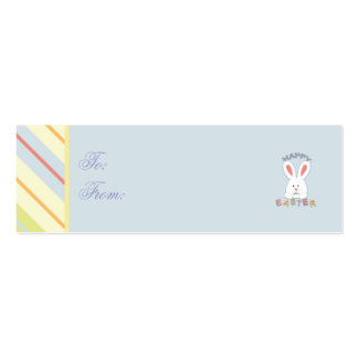 Easter Bunny Skinny Gift Tag 2 Business Cards