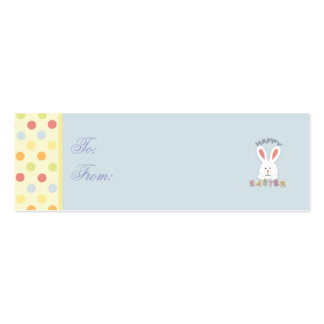 Easter Bunny Skinny Gift Tag Pack Of Skinny Business Cards