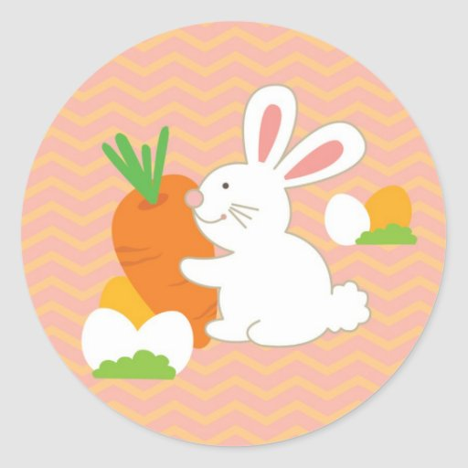 Easter bunny sticker and cards