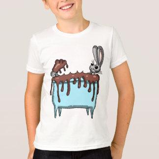 Easter Bunny Taking a Chocolate Bath T-Shirt