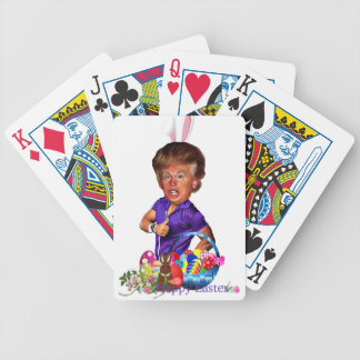 easter bunny trump bicycle playing cards