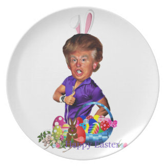 easter bunny trump plate