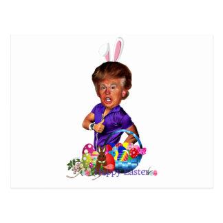 easter bunny trump postcard