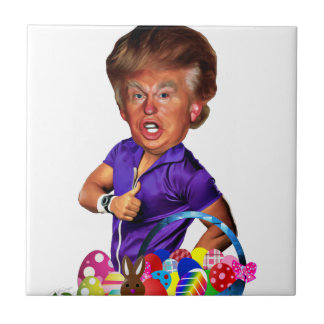 easter bunny trump tile