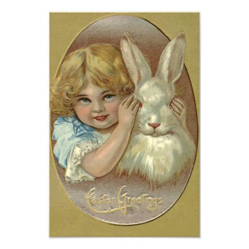 Easter Bunny Victorian Girl Photo
