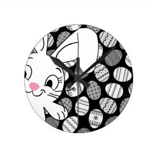 Easter bunny wall clocks