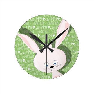 Easter bunny wallclocks