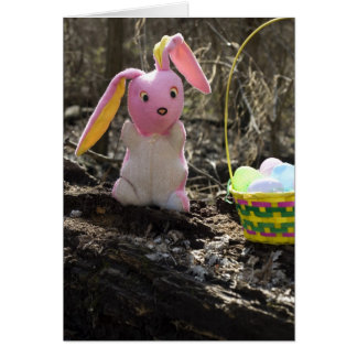 Easter Bunny with Easter Basket Card