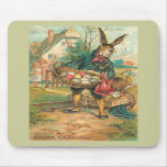 Easter Bunny With Eggs For Children Mousepad