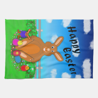 Easter Bunny with Hatchlings Kitchen Towel