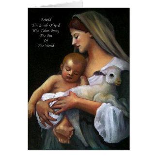 Easter Card: Artwork: Lamb Of God