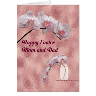 Easter Card for Mom & Dad Orchid Design