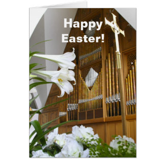 Easter Card - lilies and organ