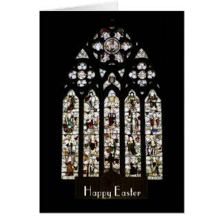 Easter Card - Stained Glass Window Showing The Sai