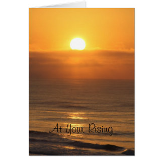 Easter card with sun rise of the Gulf