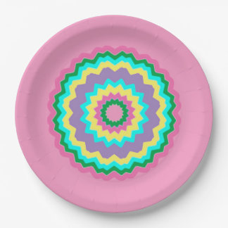 Easter Chevron 9 Inch Paper Plate