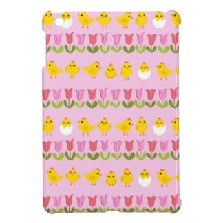 Easter - chick and tulips cover for the iPad mini