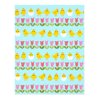 Easter - chick and tulips customized letterhead
