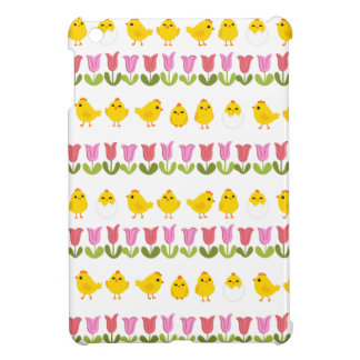 Easter - chick and tulips iPad mini case