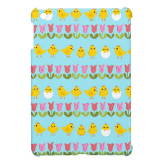 Easter - chick and tulips iPad mini covers