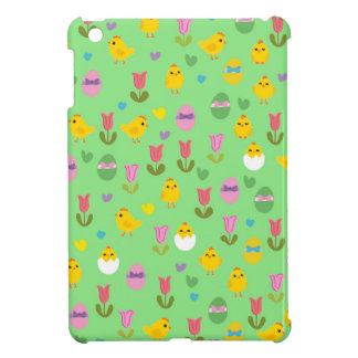 Easter - chick and tulips pattern case for the iPad mini
