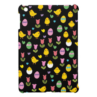 Easter - chick and tulips pattern cover for the iPad mini