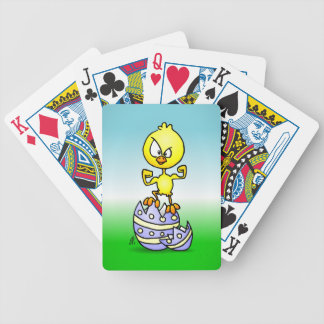 Easter Chick Bicycle Playing Cards
