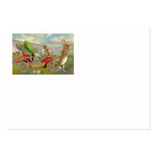 Easter Chick Bunny Egg Car Forget Me Not Business Card Template