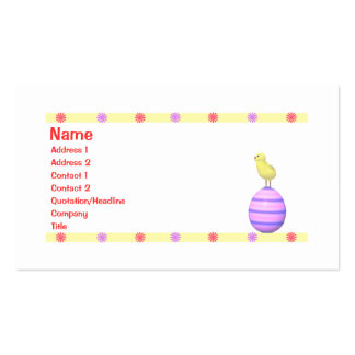 Easter Chick - Business Pack Of Standard Business Cards