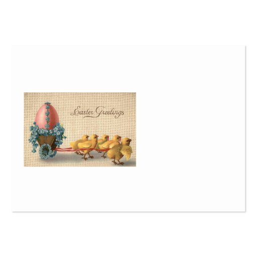 Easter Chick Chariot Colored Egg Forget Me Not Business Card Template