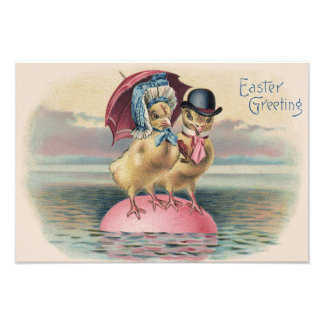 Easter Chick Colored Egg Umbrella Sea Photo Art