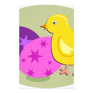 Easter Chick Drawing Stationery