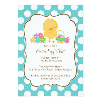 Easter Chick Egg Hunt Easter Party Invitation
