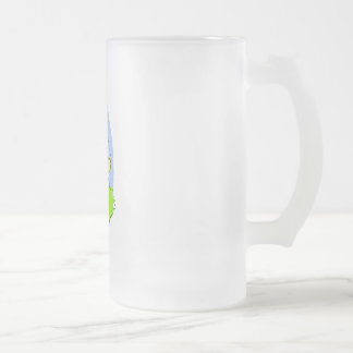 Easter Chick Frosted Glass Beer Mug