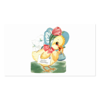 Easter Chick Greetings Double-Sided Standard Business Cards (Pack Of 100)