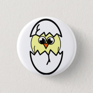 Easter chick hatching badge 1 inch round button
