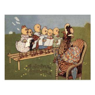 Easter Chick Hen Choir Postcard