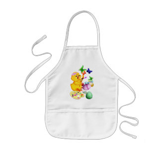 Easter Chick Paints Apron