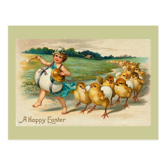 Easter Chick Parade Vintage Postcard