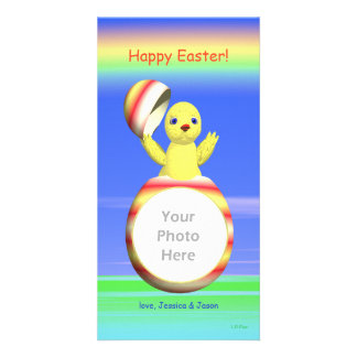 Easter Chick Pop-up Personalized Photo Card