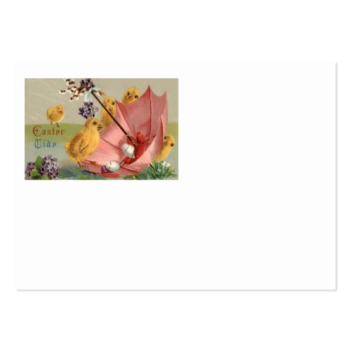 Easter Chick Umbrella Forget Me Not Egg Business Card