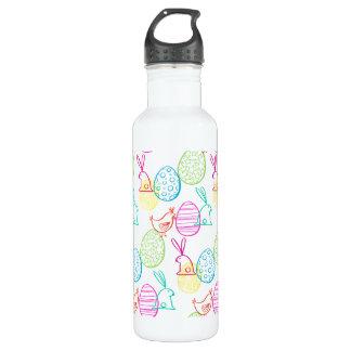 Easter chicken bunny sketchy illustration pattern 710 ml water bottle