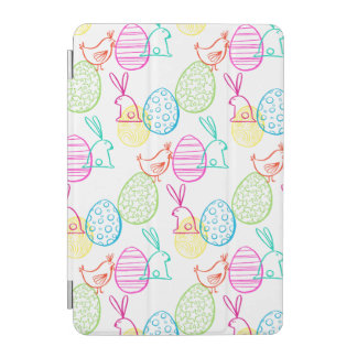 Easter chicken bunny sketchy illustration pattern iPad mini cover