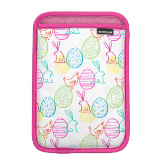 Easter chicken bunny sketchy illustration pattern iPad mini sleeve