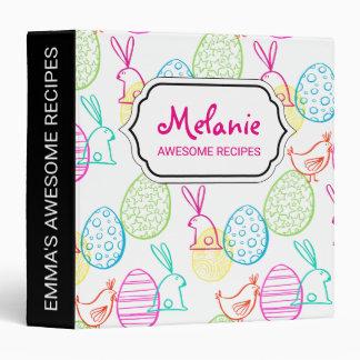 Easter chicken bunny sketchy illustration pattern vinyl binders