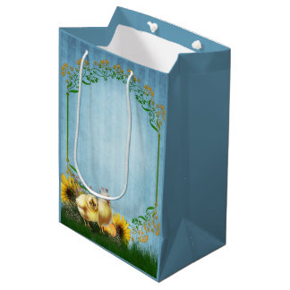Easter Chickens Medium Gift Bag